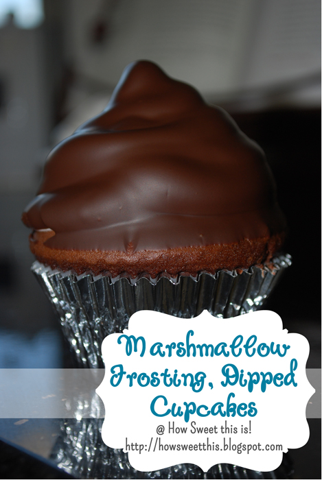 Marshmallow Frosting Dipped, Hi Hat Cupcakes!