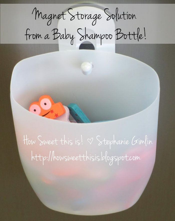 Fun Magnet Storage from a Shampoo Bottle!