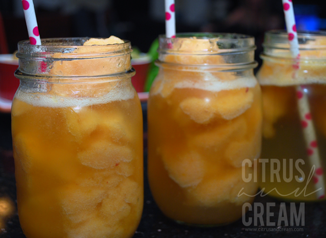 Fresh Peach Sorbet Bellini Recipe!