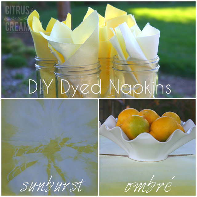DIY Dyed Napkins: 3 Fun Twists on the Table Staple