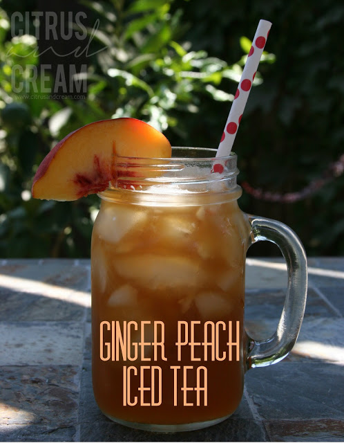 Refreshing Ginger Peach Iced Tea