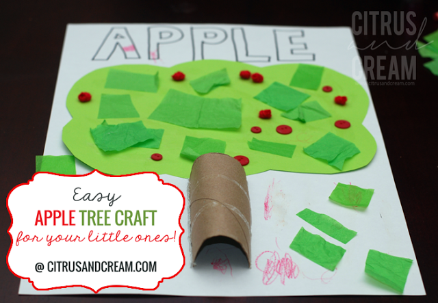 Easy Apple Tree Craft for your Little Ones!