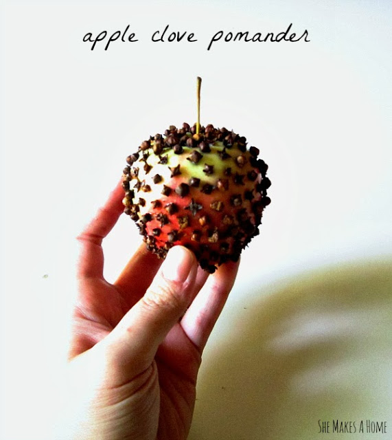 Apple & Clove Pomander from Ashley at She Makes a Home {Guest Post}