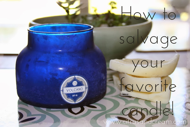 Quick Tip: How to Salvage Your Favorite Candle!