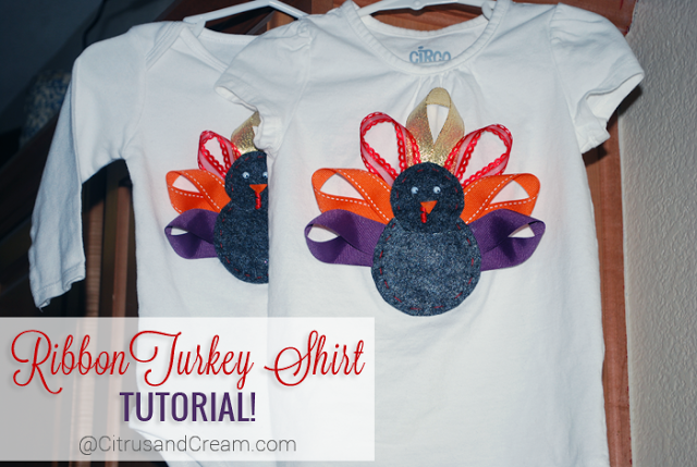 Ribbon Turkey Shirt Tutorial for your Little Ones!