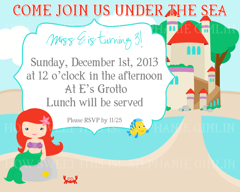 Miss E\'s 3rd Birthday- Under the Sea Themed Party! - How Sweet This Is