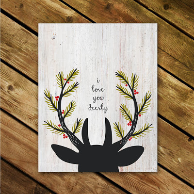 i love you deerly print by Anchor and Vine