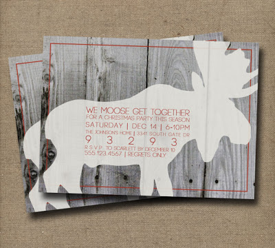 Rustic Moose Invitation by grapaperie