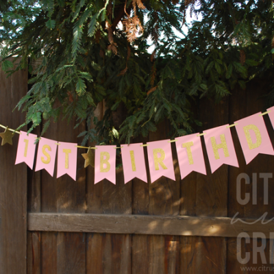 Easy DIY Birthday Banner (No Cutting Machine!)