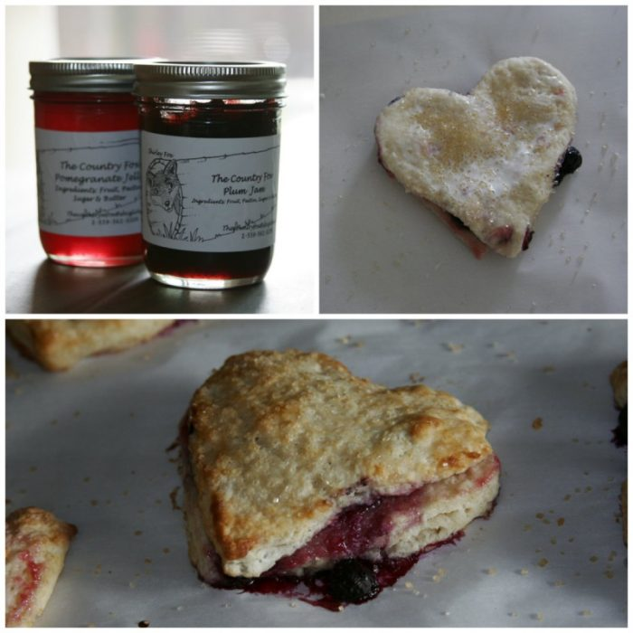 Make it with Love: Jam Filled Heart-Shaped Scones