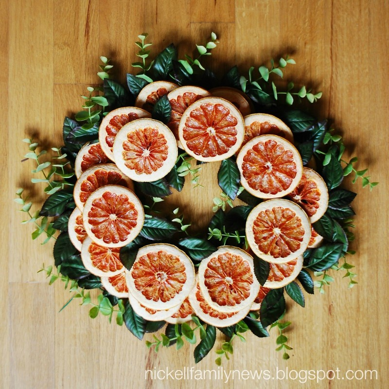 Grapefruit Wreath