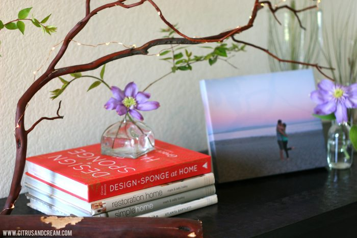 Inspired by Spring: Sprucing Up the Entryway (+a Canvas Print Giveaway!)
