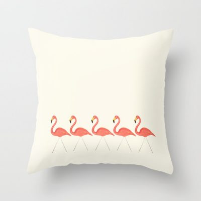Flamingo Lineup Pillow