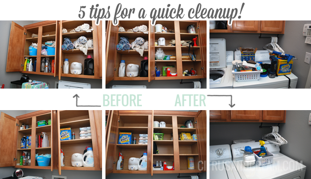 Laundry Room Reorganization {5 Tips for a Quick Cleanup}