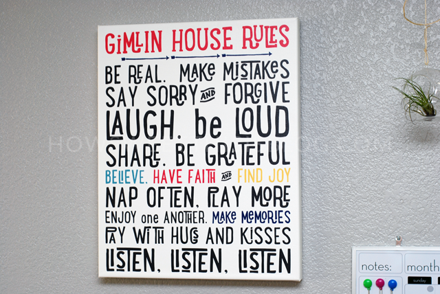 family rules sign. Recent Home Updates    How Sweet This Is