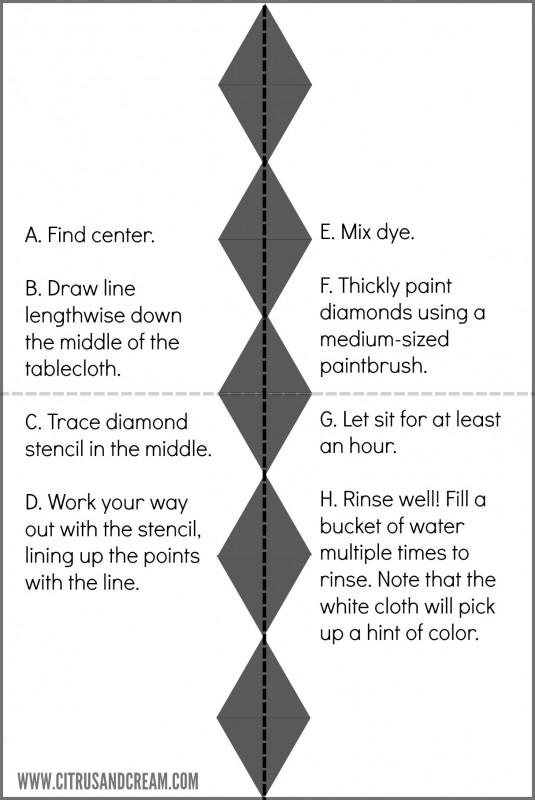 Instructions for Diamond Tablecloth
