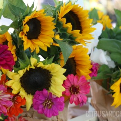 Fall Flower Arrangement Recipe {Tips from The Flower Farm!}
