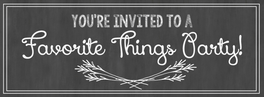 favorite things party facebook invite