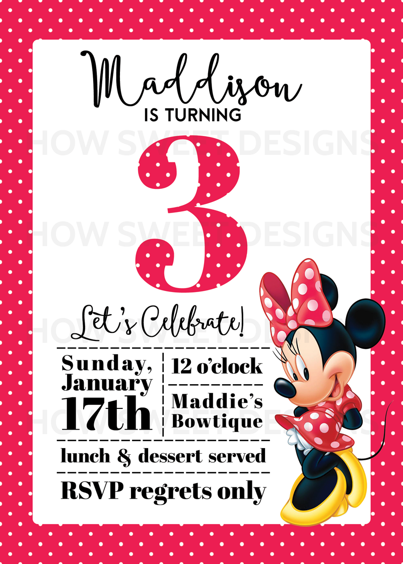 Mickey Invitations with amazing invitation layout