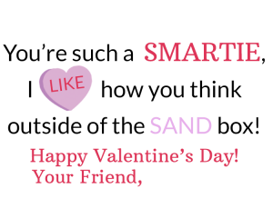 Kinetic Sand Valentine's Printable