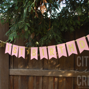 Easy DIY Birthday Banner (No Cutting Machine!)